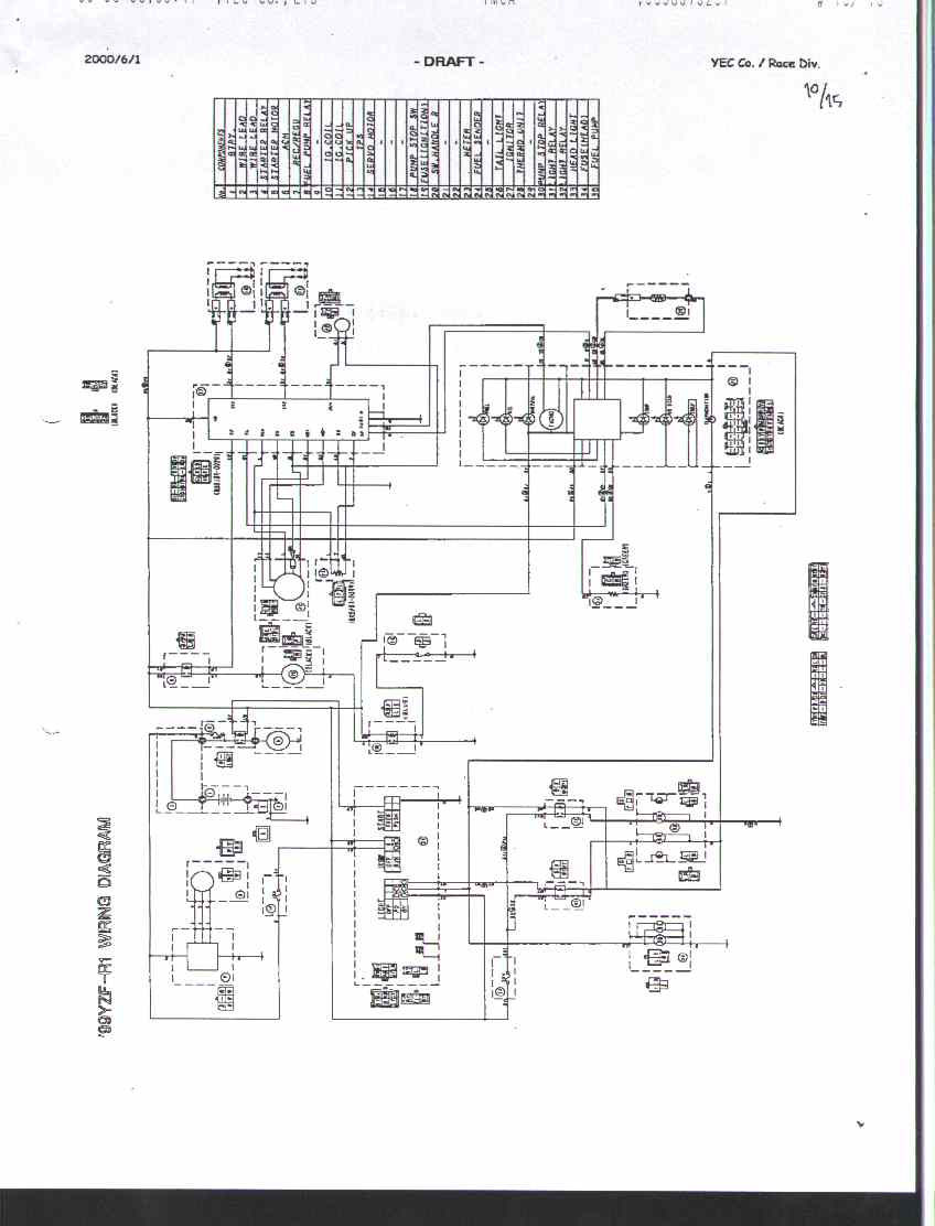 99 yamaha r1 wiring diagram   27 wiring diagram images